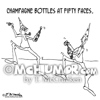Champagne Cartoon 1171