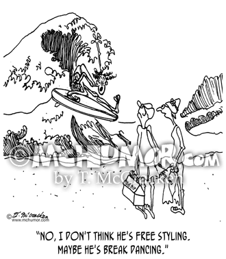 Surfing Cartoon 1290