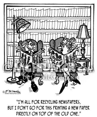 Newspaper Cartoon 2037