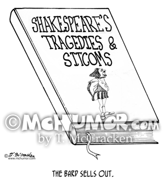 Shakespeare Cartoon 2156
