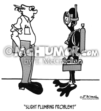 Plumbing Cartoon 2428
