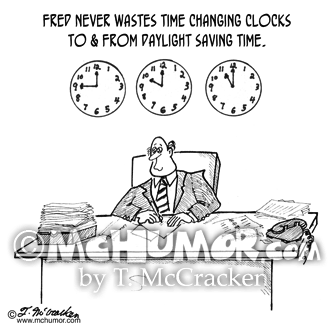 Daylight Saving Time Cartoon 2960
