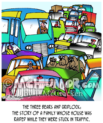 Traffic Cartoon 2997