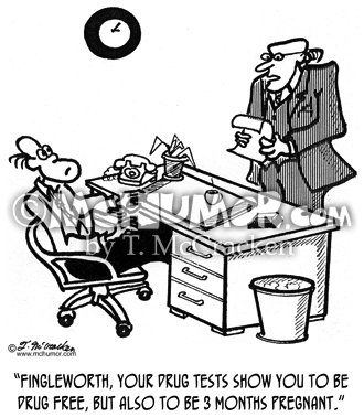 Drug Test Cartoon 3105