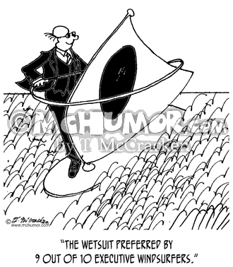 Wind Surfing Cartoon 3431