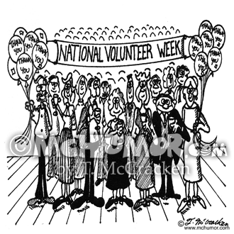 Volunteer Cartoon 4683