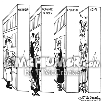 Library Cartoon 4792