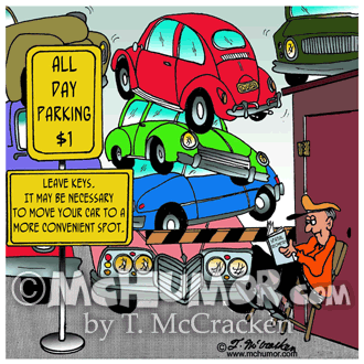 Parking Lot Cartoon 4798