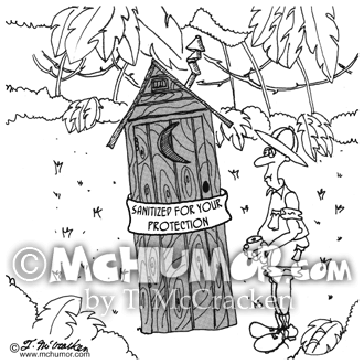 Outhouse Cartoon 4986