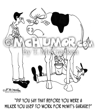 Milking Cartoon 5046