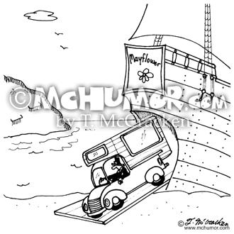 recreational vehicle rv cartoons page 1 Van RVS history cartoon 5578