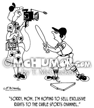 Baseball Cartoon 5597