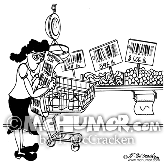 Grocery Cartoon 5899