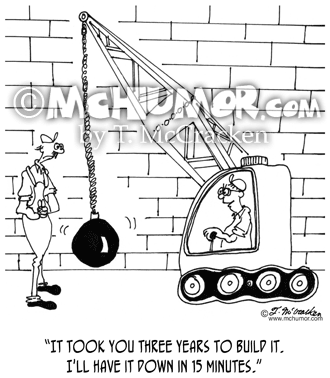 Demolition Cartoon 6384