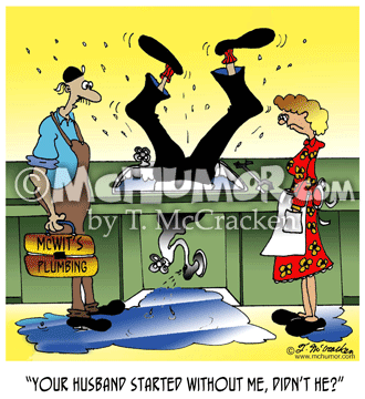 Plumbing Cartoon 6410
