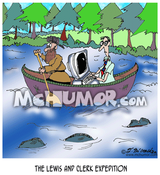 Canoe Cartoon 6910