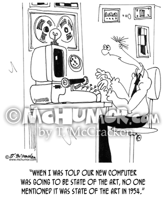Computer Cartoon 7058