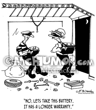 Battery Cartoon 7254