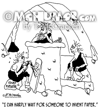 Court Reporter Cartoon 7420