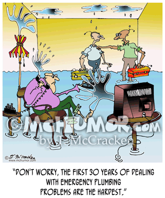 Plumbing Cartoon 7584