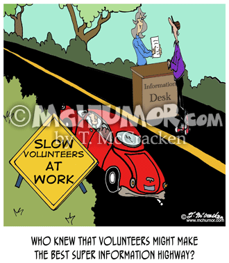Volunteer Cartoon 7691