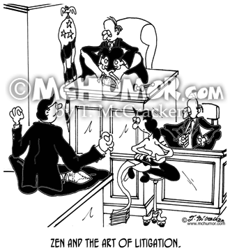 Litigation Cartoon 7849