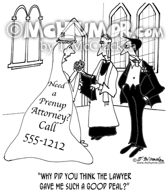 Prenup Cartoon 7860