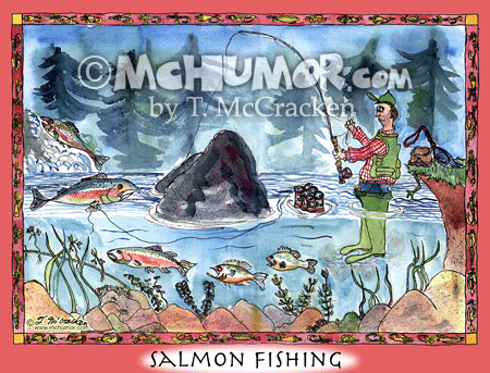 Salmon Cartoon 8012