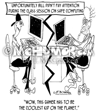 Computer Cartoon 8035