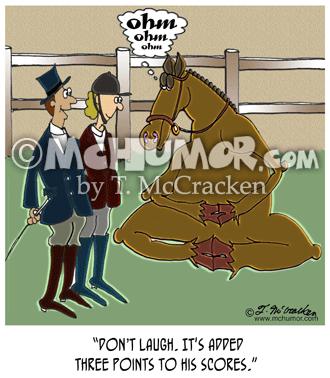 Dressage Horse English Riding Cartoons