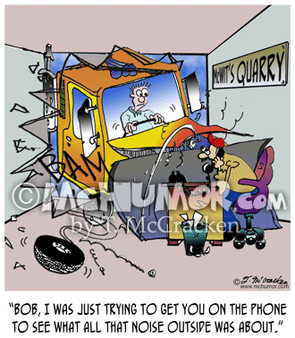 Bulldozer Cartoon 8245