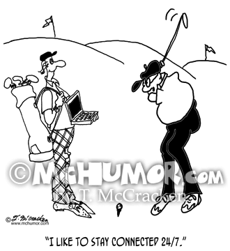 Golf Cartoon 8335