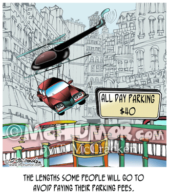 Parking Cartoon 8678