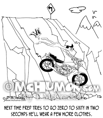 Motorcycle Cartoon 8909