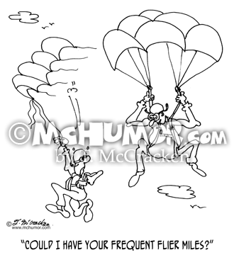 Skydiving Cartoon 8931