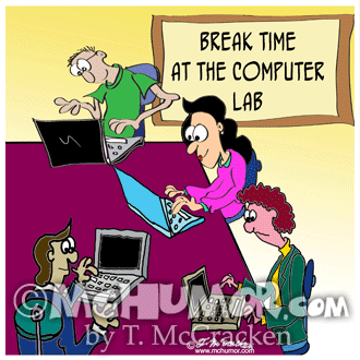 Computer Cartoon 8987