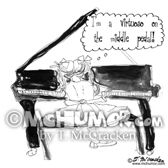 Piano Cartoon 9016
